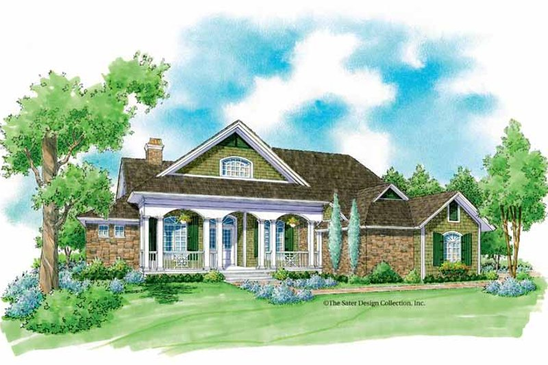 Country Exterior - Front Elevation Plan #930-231