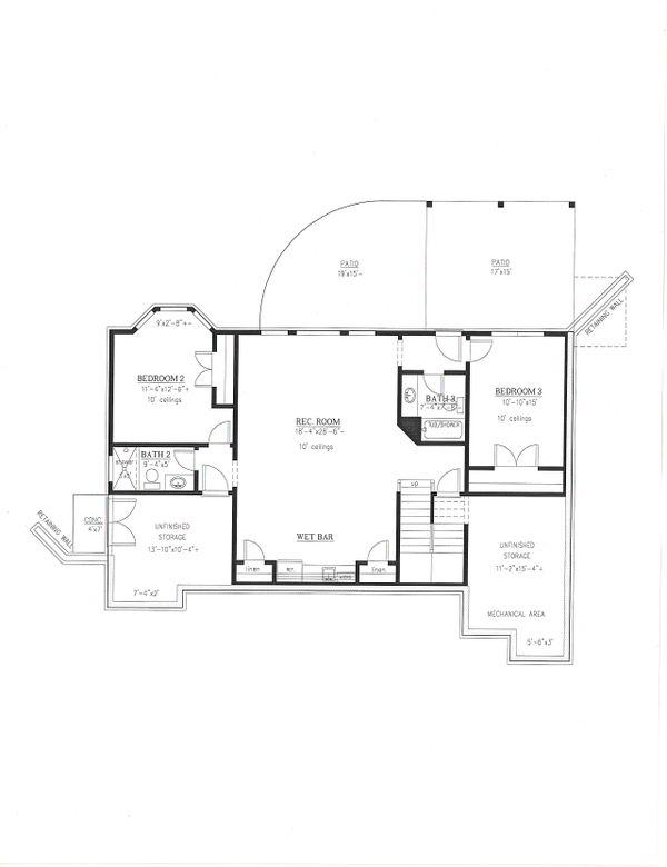 Dream House Plan - Craftsman Floor Plan - Lower Floor Plan #437-128