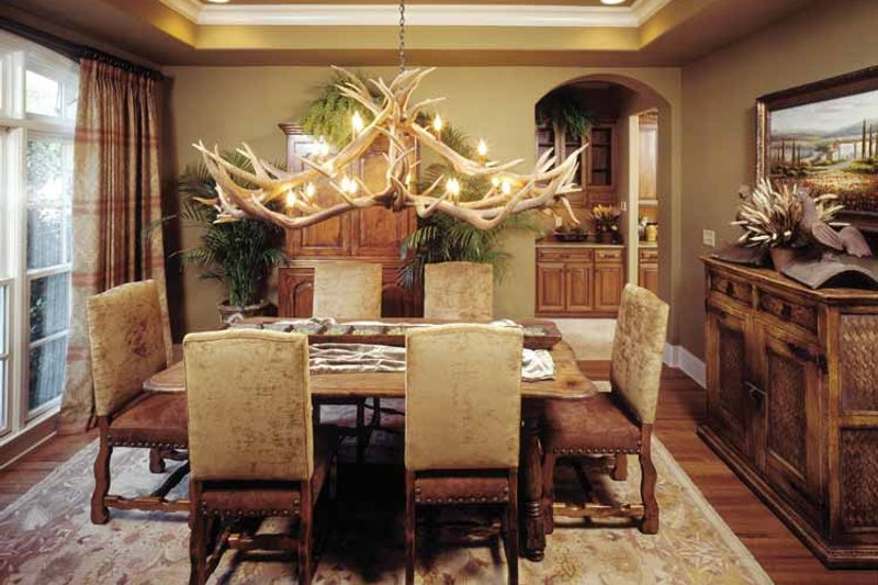 Country Interior - Dining Room Plan #952-182 - Houseplans.com