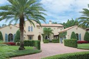 Mediterranean Style House Plan - 5 Beds 5 Baths 7363 Sq/Ft Plan #1058-19 Exterior - Front Elevation