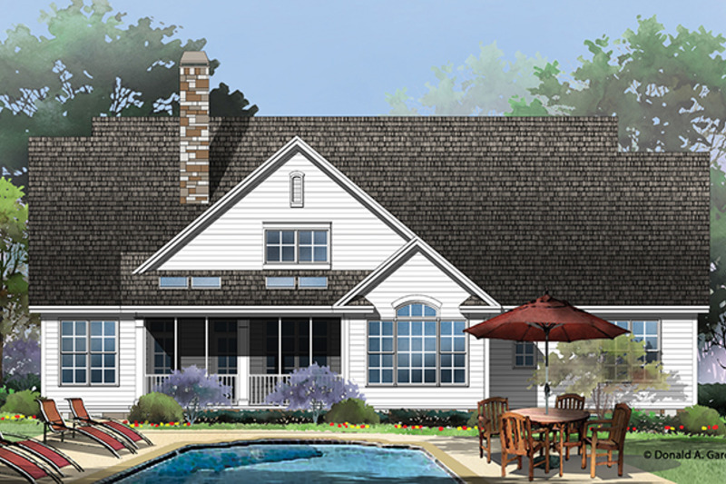 Traditional Exterior - Rear Elevation Plan #929-959 - Houseplans.com