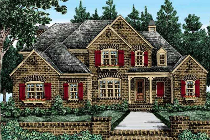 Country Exterior - Front Elevation Plan #927-375
