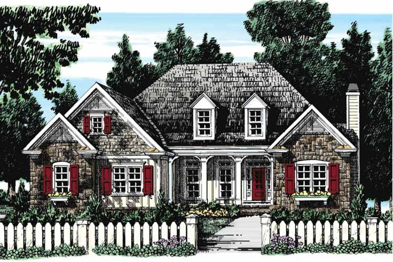 European Exterior - Front Elevation Plan #927-273 - Houseplans.com