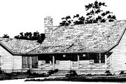 Country Style House Plan - 3 Beds 2 Baths 1550 Sq/Ft Plan #10-226 Exterior - Front Elevation