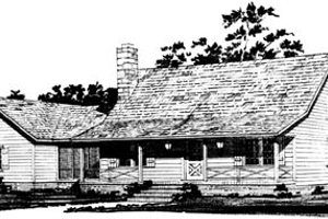 Country Exterior - Front Elevation Plan #10-226