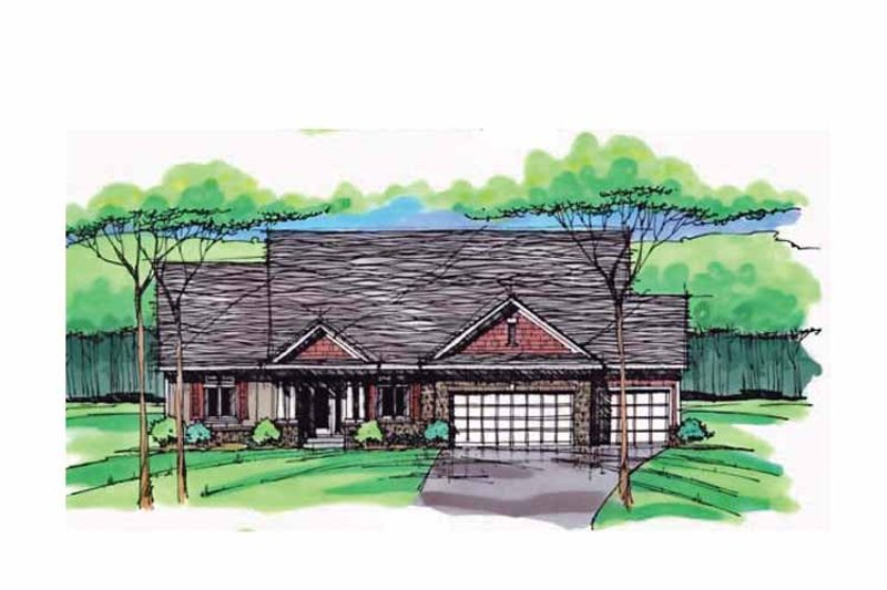 Country Exterior - Front Elevation Plan #51-999 - Houseplans.com
