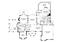 European Floor Plan - Main Floor Plan Plan #119-421