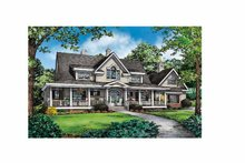 Architectural House Design - Country Exterior - Front Elevation Plan #929-857