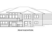 Architectural House Design - Prairie Exterior - Rear Elevation Plan #48-293