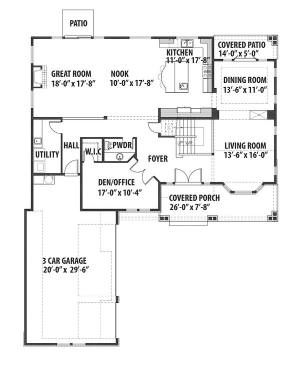 Traditional Floor Plan - Main Floor Plan Plan #569-39
