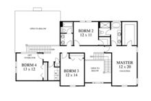 Colonial Floor Plan - Upper Floor Plan Plan #1053-48
