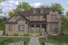 Home Plan - Traditional Exterior - Front Elevation Plan #56-681