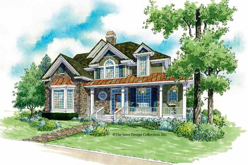 Home Plan - Victorian Exterior - Front Elevation Plan #930-180