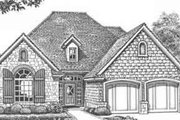 European Style House Plan - 3 Beds 2.5 Baths 1637 Sq/Ft Plan #310-411 Exterior - Front Elevation
