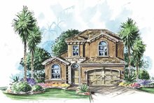 Architectural House Design - Mediterranean Exterior - Front Elevation Plan #1017-89