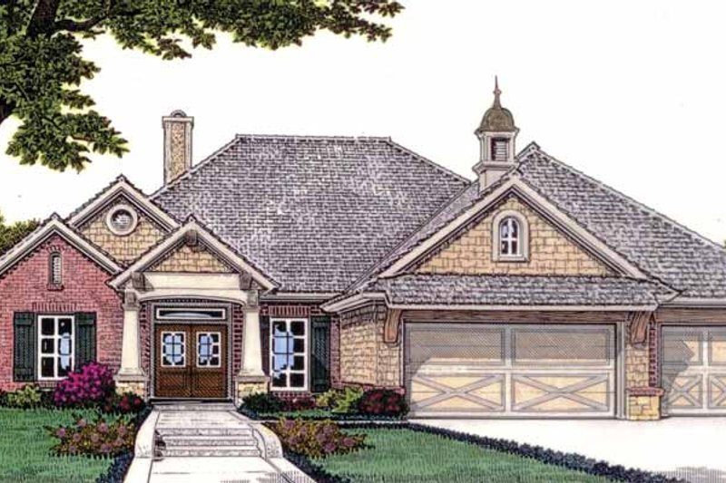 House Plan Design - Craftsman Exterior - Front Elevation Plan #310-1228