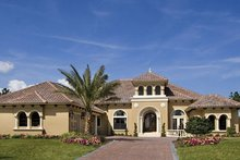 Dream House Plan - Mediterranean Exterior - Front Elevation Plan #417-815