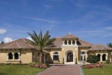 Dream House Plan - Mediterranean Exterior - Front Elevation Plan #417-815