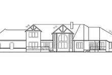 Tudor Exterior - Rear Elevation Plan #60-241