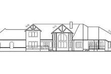 Dream House Plan - Tudor Exterior - Rear Elevation Plan #60-241
