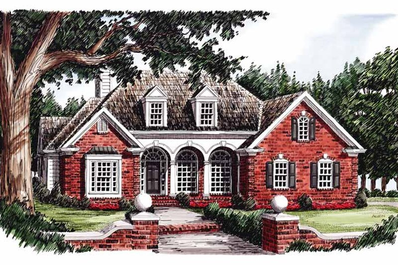European Exterior - Front Elevation Plan #927-495