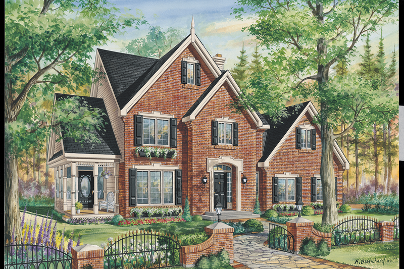 Traditional Style House Plan - 3 Beds 1 Baths 1837 Sq/Ft Plan #25-4766 Exterior - Front Elevation