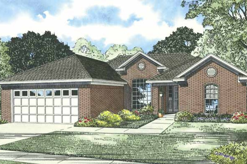 Traditional Exterior - Front Elevation Plan #17-3272 - Houseplans.com