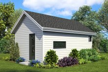 Architectural House Design - Contemporary Exterior - Rear Elevation Plan #48-954
