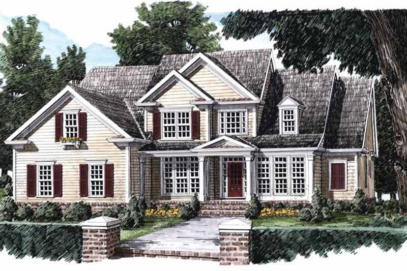 Colonial Exterior - Front Elevation Plan #927-644