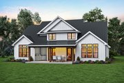Contemporary Style House Plan - 4 Beds 3.5 Baths 3032 Sq/Ft Plan #48-1003 Exterior - Rear Elevation