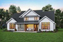 Architectural House Design - Contemporary Exterior - Rear Elevation Plan #48-1003