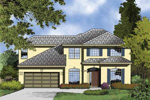 Architectural House Design - Contemporary Exterior - Front Elevation Plan #1015-50