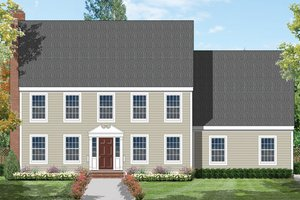 Home Plan - Colonial Exterior - Front Elevation Plan #1053-13