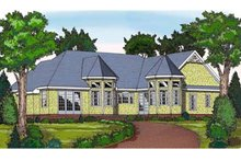 House Plan Design - Country Exterior - Rear Elevation Plan #314-272