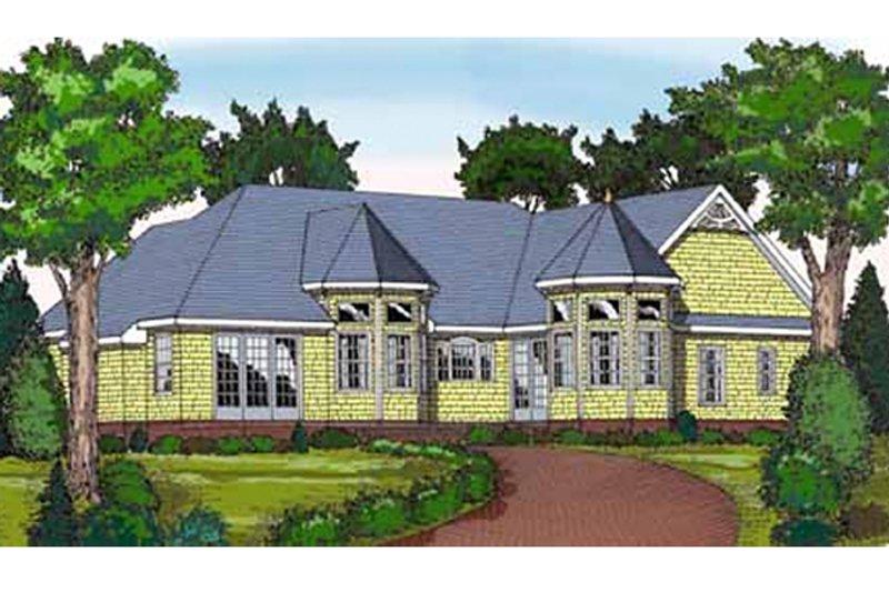 Country Exterior - Rear Elevation Plan #314-272 - Houseplans.com