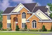 European Style House Plan - 4 Beds 2.5 Baths 2518 Sq/Ft Plan #72-481 Exterior - Front Elevation