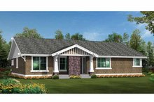 House Design - Craftsman Exterior - Rear Elevation Plan #132-538