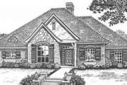 European Style House Plan - 4 Beds 2.5 Baths 2158 Sq/Ft Plan #310-401 Exterior - Front Elevation