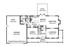 Colonial Floor Plan - Main Floor Plan Plan #1010-152