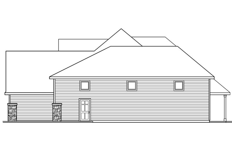 Country Exterior - Other Elevation Plan #124-604 - Houseplans.com