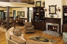 Dream House Plan - Country Interior - Family Room Plan #929-651