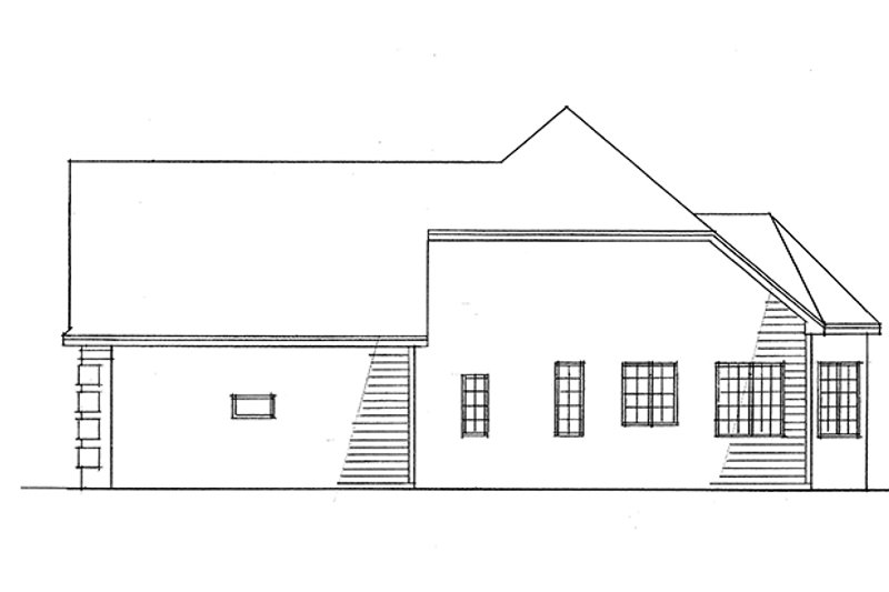 Ranch Exterior - Other Elevation Plan #51-701 - Houseplans.com