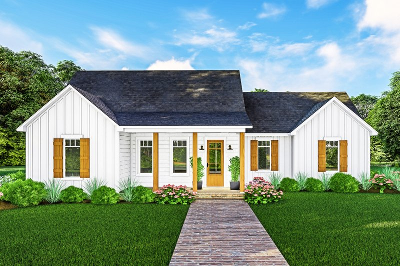 Architectural House Design - Farmhouse Exterior - Front Elevation Plan #406-9667