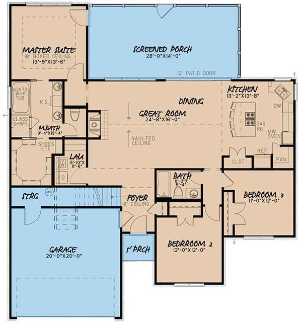 European Floor Plan - Main Floor Plan Plan #17-3409