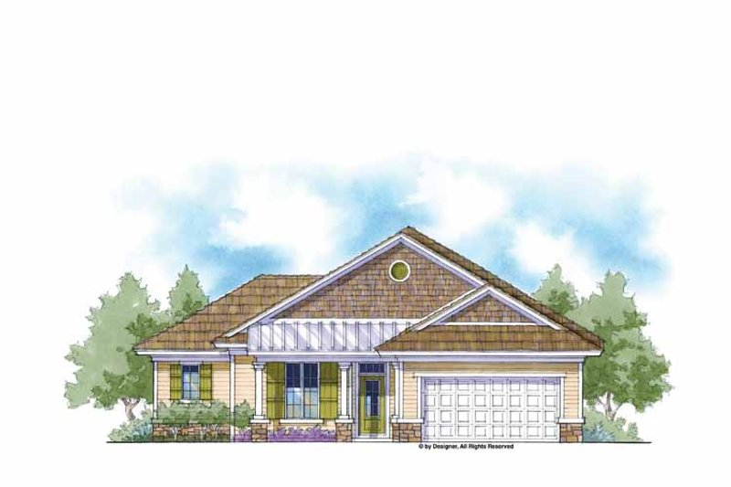 Country Exterior - Front Elevation Plan #938-3 - Houseplans.com