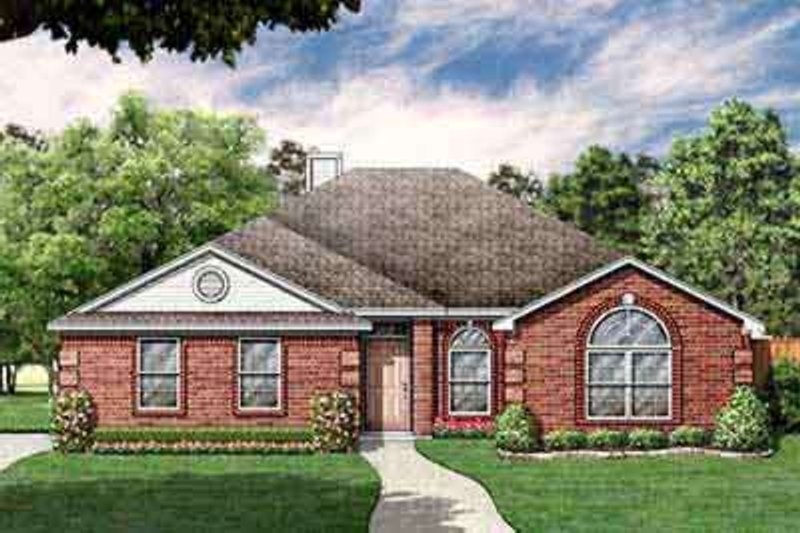 Southern Exterior - Front Elevation Plan #84-227