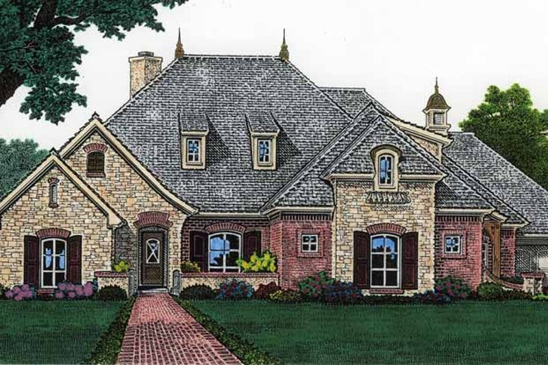 Country Exterior - Front Elevation Plan #310-1205