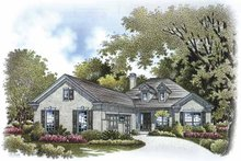 Colonial Exterior - Front Elevation Plan #999-169
