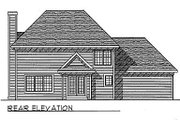 Traditional Style House Plan - 3 Beds 2.5 Baths 1912 Sq/Ft Plan #70-239 Exterior - Rear Elevation