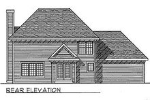 Dream House Plan - Traditional Exterior - Rear Elevation Plan #70-239